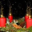 Stock Photo: Advent wreath at Christmas