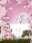 Pegasus fairy tale — Stock Photo
