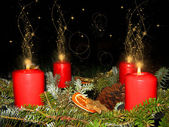 Advent wreath at Christmas — Stock Photo