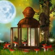 Fantasy old lantern — Stock Photo
