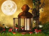 Fantazie staré lucerny — Stock fotografie