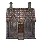Medieval chapel, isolated on the white background — Stock Photo