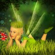Elf in the fairy forest — Stock Photo