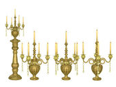 Antique candelabra — Stock Photo