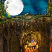 волшебный сундук сокровищ — Стоковое фото