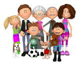 Happy family — Foto de Stock
