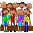 Stock Photo: Children singing, Children chorus