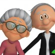 Stock Photo: Grandparents 3d