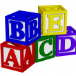 ABC blocks 3d — Stock Photo