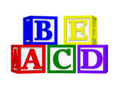 Abc blocchi 3d — Foto Stock