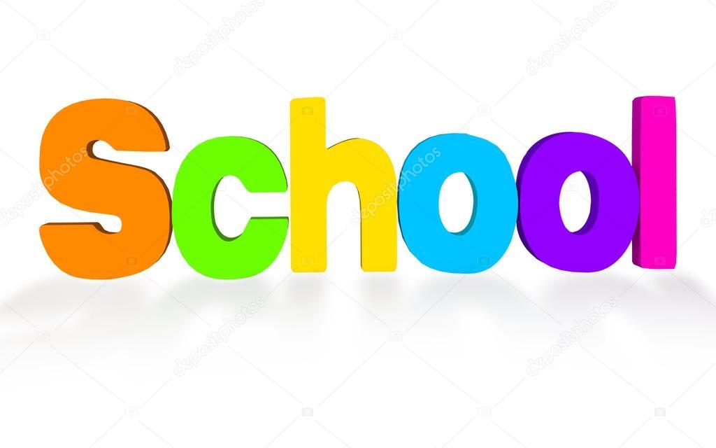 School word 3d — Stock Photo © artecke #31927263