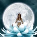 Beautiful meditation — Stock Photo