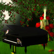 Magical  piano — Stock Photo