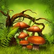 Stock Photo: Mushrooms fantasy forest