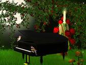 Magical piano — Stock Photo