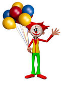 Clown 3d illustration — Stock Photo