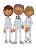 Doctor and his helpers — Stock Photo