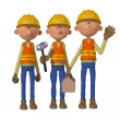 Builders 3d — Stock Photo
