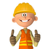 Construction worker 3d — Stock Photo