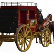 Stagecoach with Horses — Stock Photo
