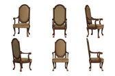 Set of antique chairs — Stock Photo