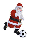 Santa playing football — Foto de Stock