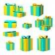 Christmas Gift Boxes Set — Stock Photo