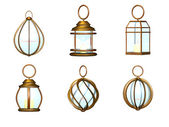 Lantern metal set — Foto Stock