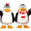 Stock Photo: Happy pinguins