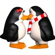 Stock Photo: Happy pinguins in love