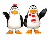 Happy pinguins — Stock Photo