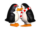Happy pinguins in love — Stock Photo