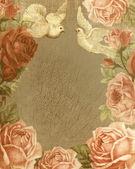 Vintage background roses, love — Foto Stock