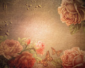 Vintage background roses, love — Stock Photo