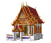 Thai Temple, isolated on the white background — Stock Photo
