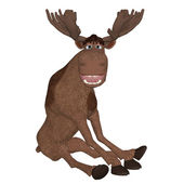 Cartoon moose — Stock Photo