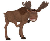 Cartoon moose — Stockfoto