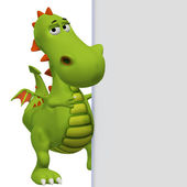 Dragon with a blank board — Stock Photo