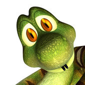 Snake 3d cartone animato carino — Foto Stock