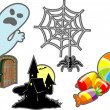 Royalty-Free Stock Vector Image: Halloween set elements