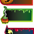 Three banners by a holiday halloween — Stock Vector