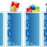 Set of Christmas banners — Stock Vector