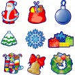 Set of Christmas icons - Stockvectorbeeld