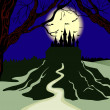Royalty-Free Stock Imagen vectorial: Dark castle