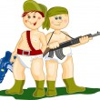 Military boys — Stock Vector