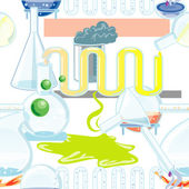 Química cristal transparente — Vector de stock