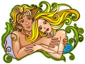 Loving couple — Stock Vector