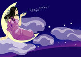 Lady night — Stock Vector