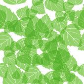 Seamless birch leaves — Stock Vector