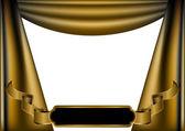 Gold luxury curtain — Stock Vector